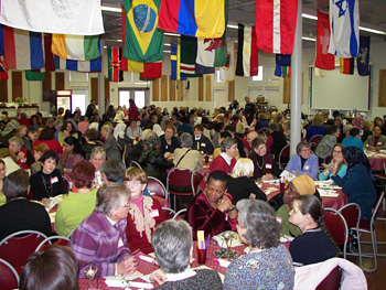More than 230 women attended the third International Dinner March 19 at Manlius Pebble Hill School.
