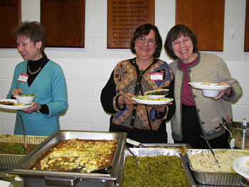 'The food was great!' many said. WTB members made the homemade vegetarian dishes, with enough left for carry-outs!