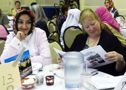 Nearly 200 women attended the International Dinner.