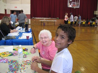 Crafts for all ages at St. Lucy's.